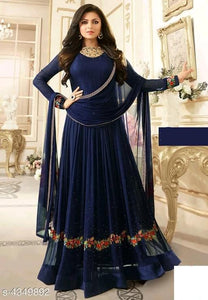Designer Floor length Salwar Suit piece - Indien Boutique