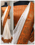 Sana Silk Sarees with Contrast Brocade Border - Indien Boutique
