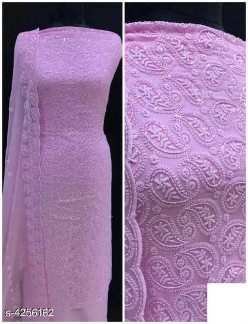 Chikankari Dress Material - Indien Boutique
