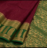 Self Embossed Mysore Silk Sarees - Indien Boutique