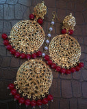 Jadaau maangtika earring Sets - Indien Boutique
