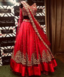 Embroidered Georgette Lehengas - Indien Boutique