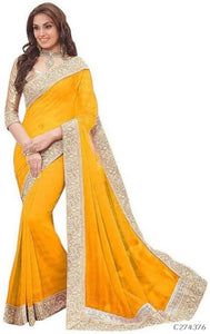 Chiffon Saree with Jacquard - Indien Boutique