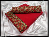 Marble Chiffon Saree with printed satin border - Indien Boutique