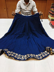 Muslin Skirts with Gota Patti work - Indien Boutique