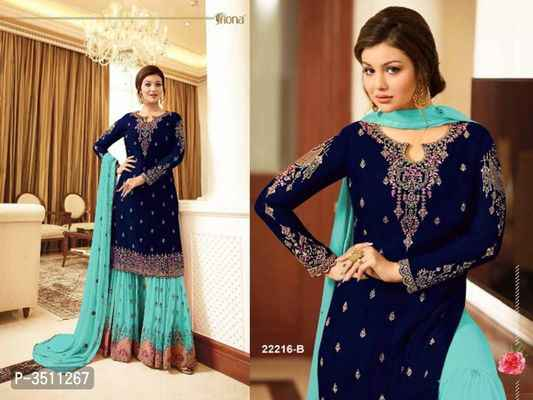 Georgette Kurti Sharaara Set - Indien Boutique