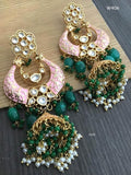 Pearl & Beaded Kundan Earrings - Indien Boutique