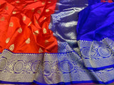 Pure Katan Silk Saree - Indien Boutique