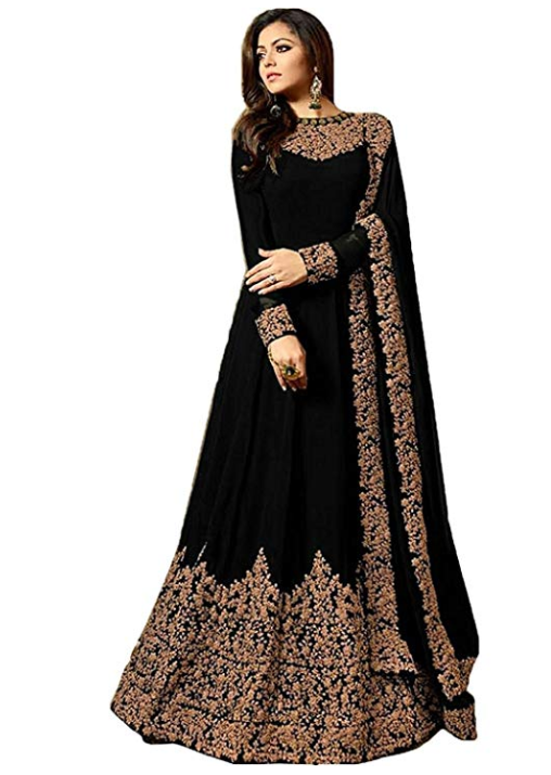 Embroidered Georgette Gown - Indien Boutique