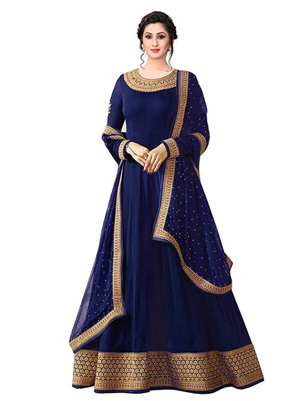 Georgette Partywear Anarkali Gown - Indien Boutique