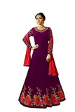 Embroidered Georgette Anarkali Gown - Indien Boutique