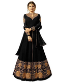 Collared Embroidered Georgette Gown - Indien Boutique