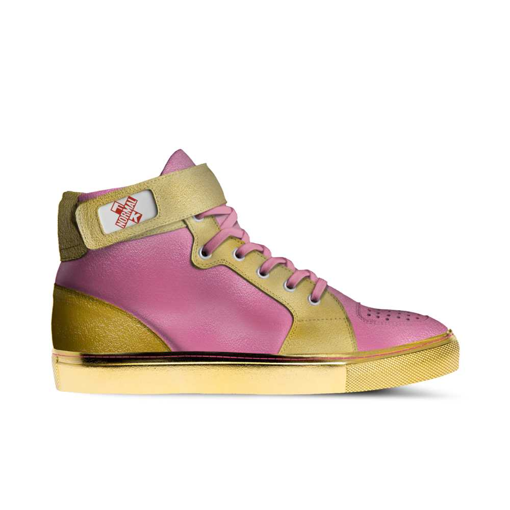 Mens basketball high top trainer - pink and gold-FK NORMAL