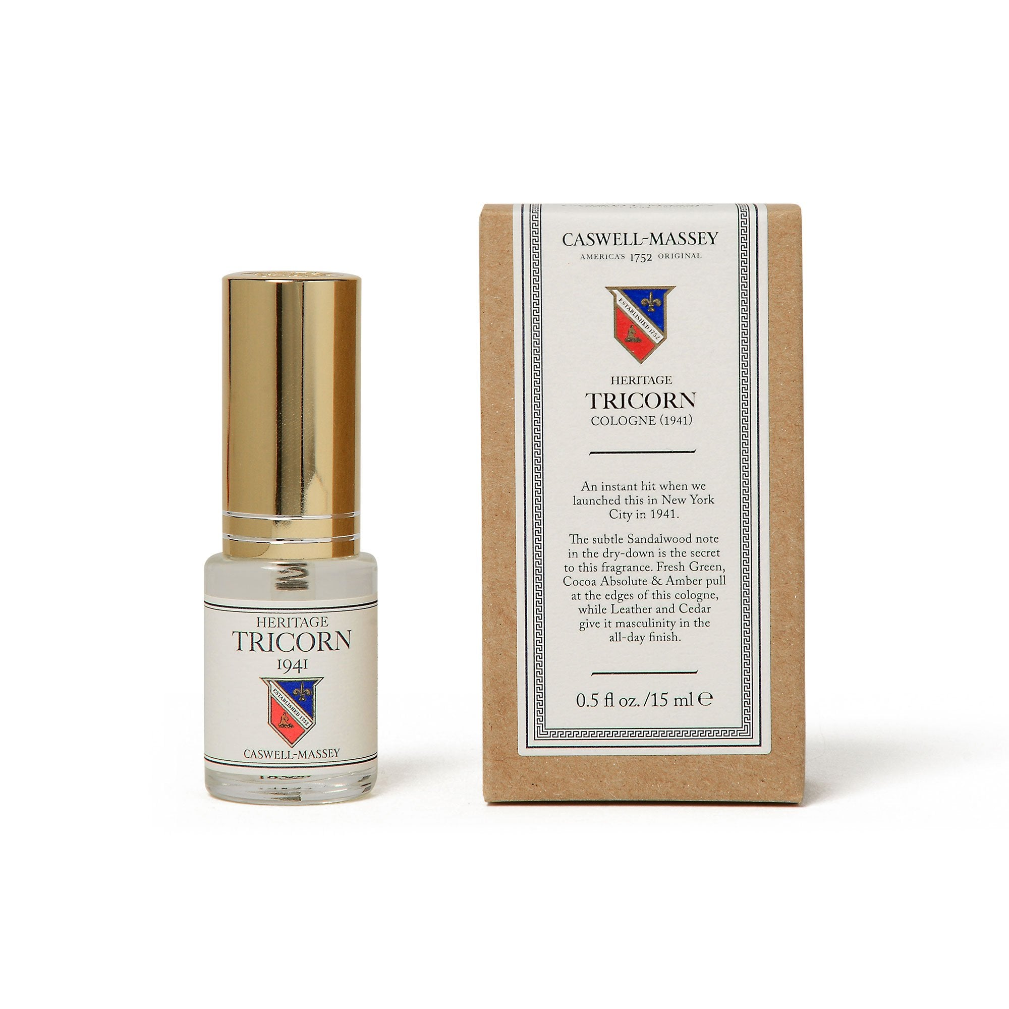 Heritage Tricorn 15ML Travel Cologne