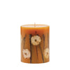 "Rosy Rings - Small (5.5""HX4.5""D) Round Botanical Candle Honey Tobacco"