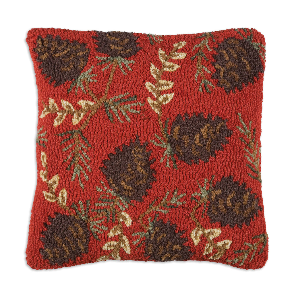 Ruby Pinecones Pillow 18X18