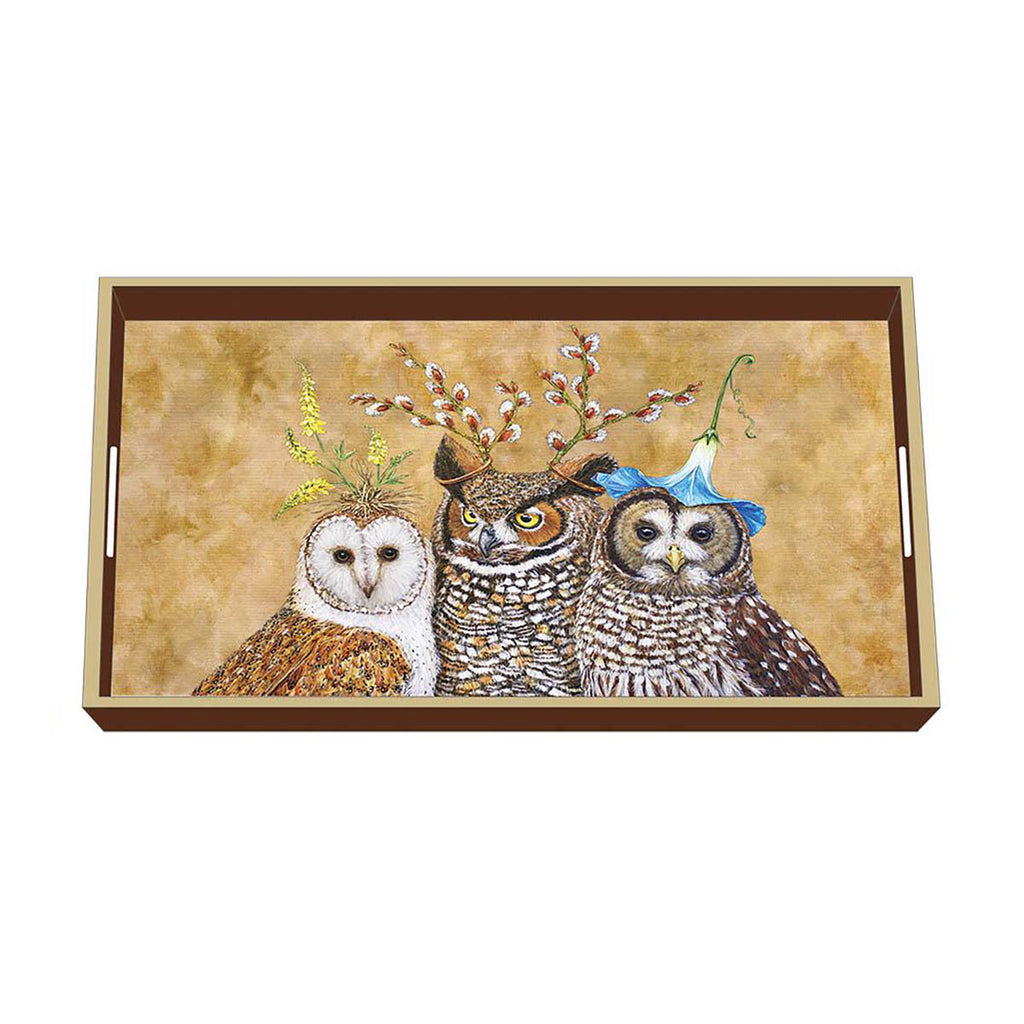 Owl Family - Wooden Vanity Tray