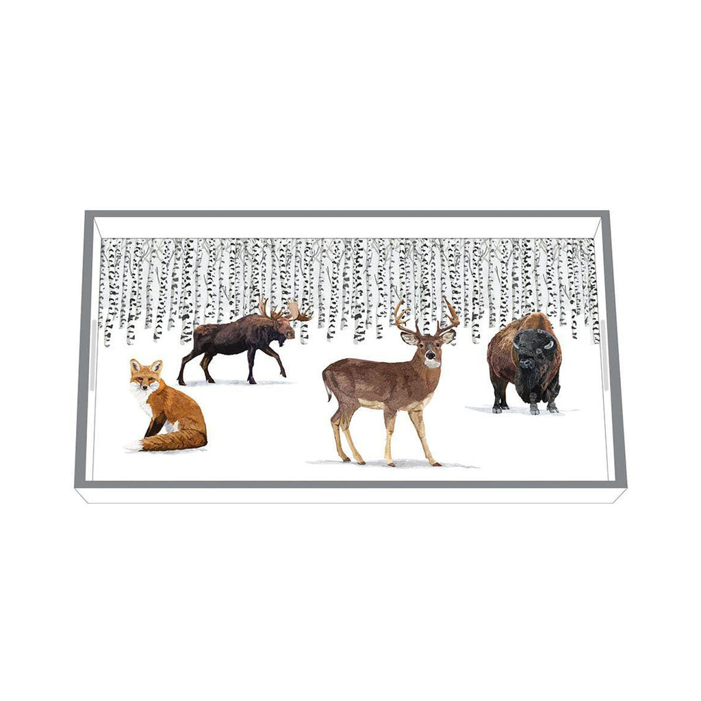 Wilderness Animals - Wood Lacquer Vanity Tray