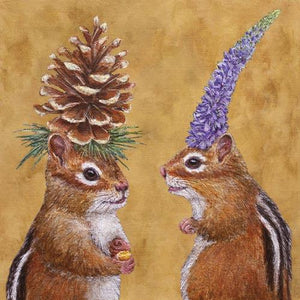 Lunch Napkin - Chipmunk Courtship