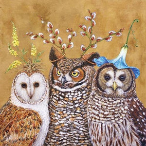 Lunch Napkin - Owl Family