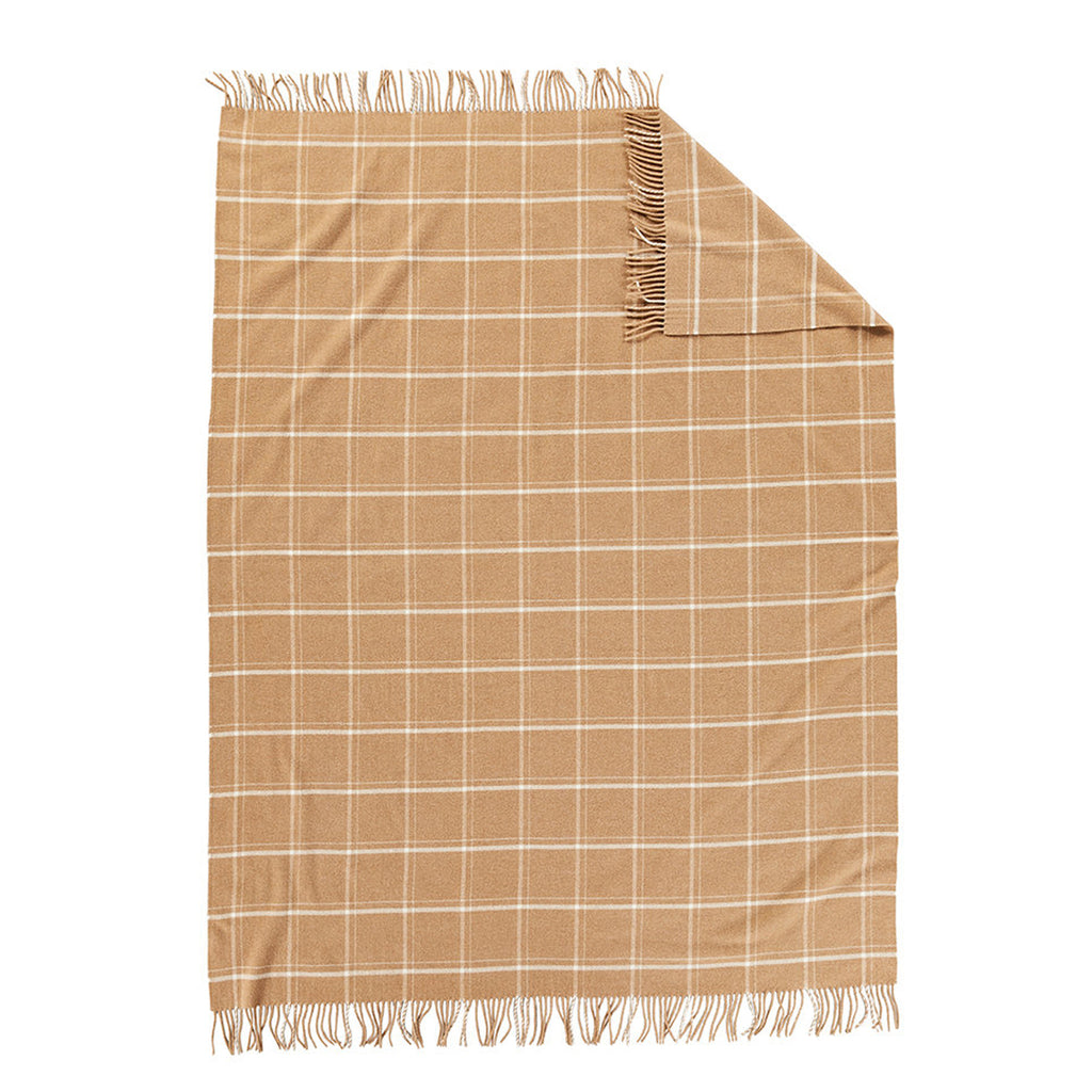 5th Avenue Throw in Camel Windowpane