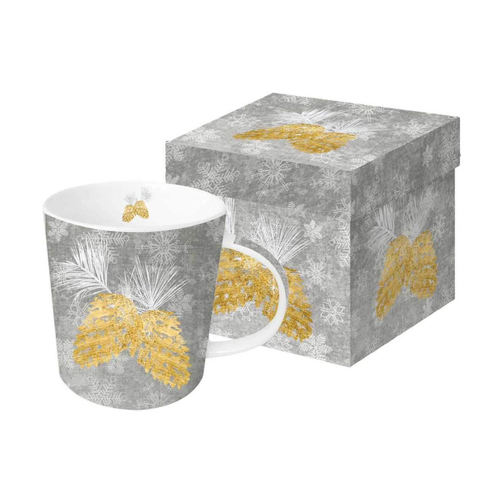 Holiday Pinecones - Mug In Gift Box