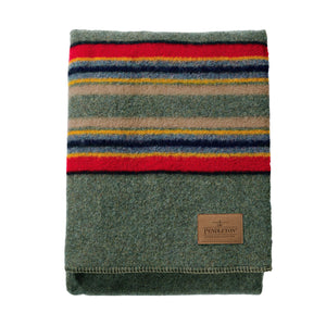 Yakima Camp Queen Blanket in Green Heather