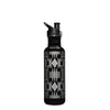 Stainless Steel Water Bottle in Harding Black/Silver