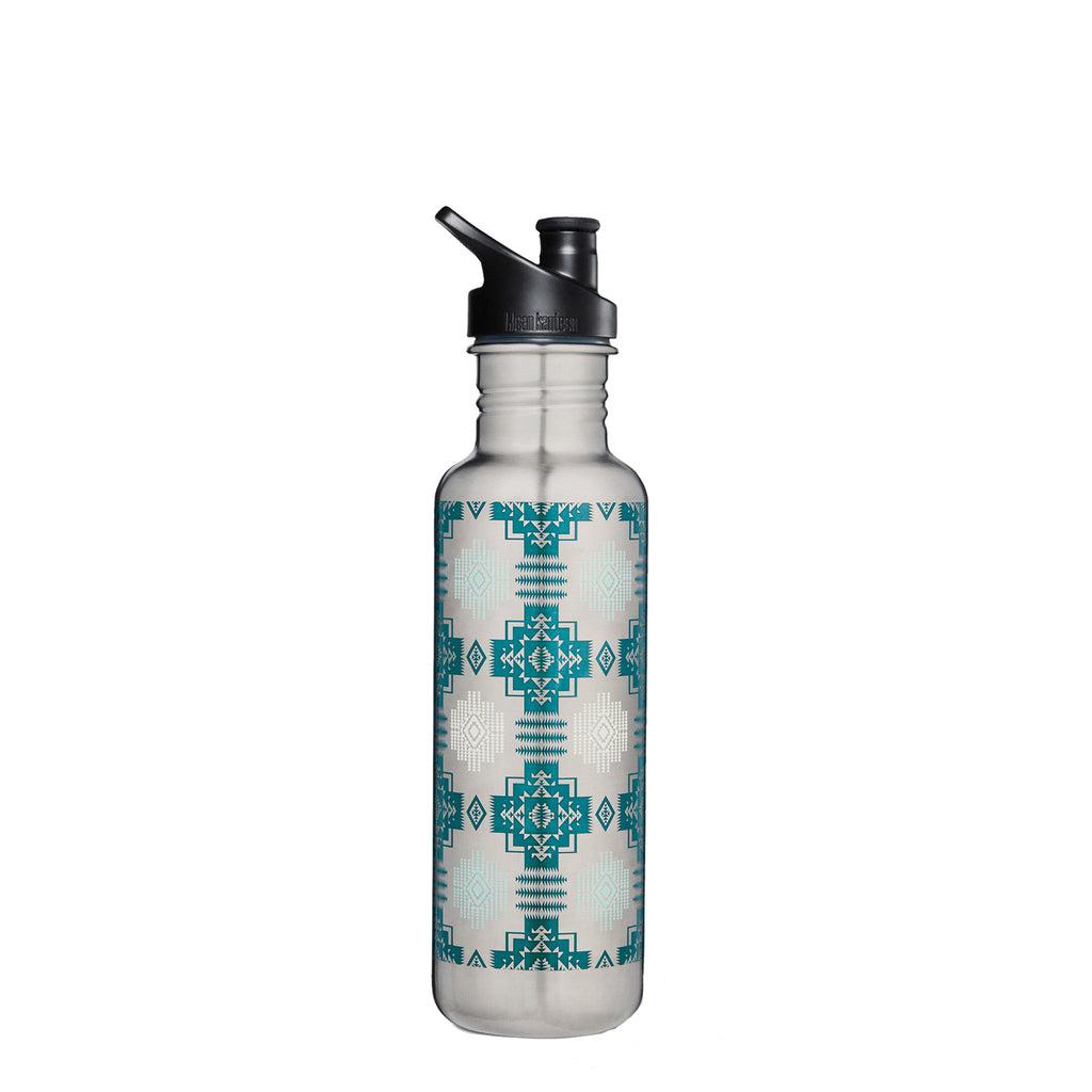 Stainless Steel Water Bottle in Chief Joseph Silver
