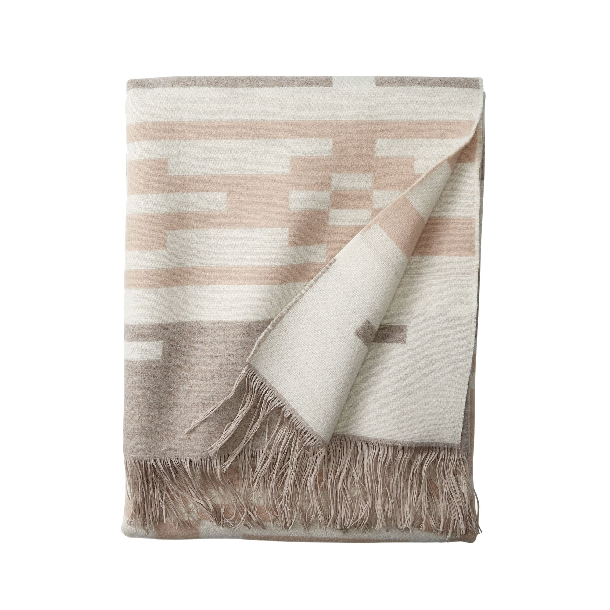 Jacquard Fringed Throw in Sandhills