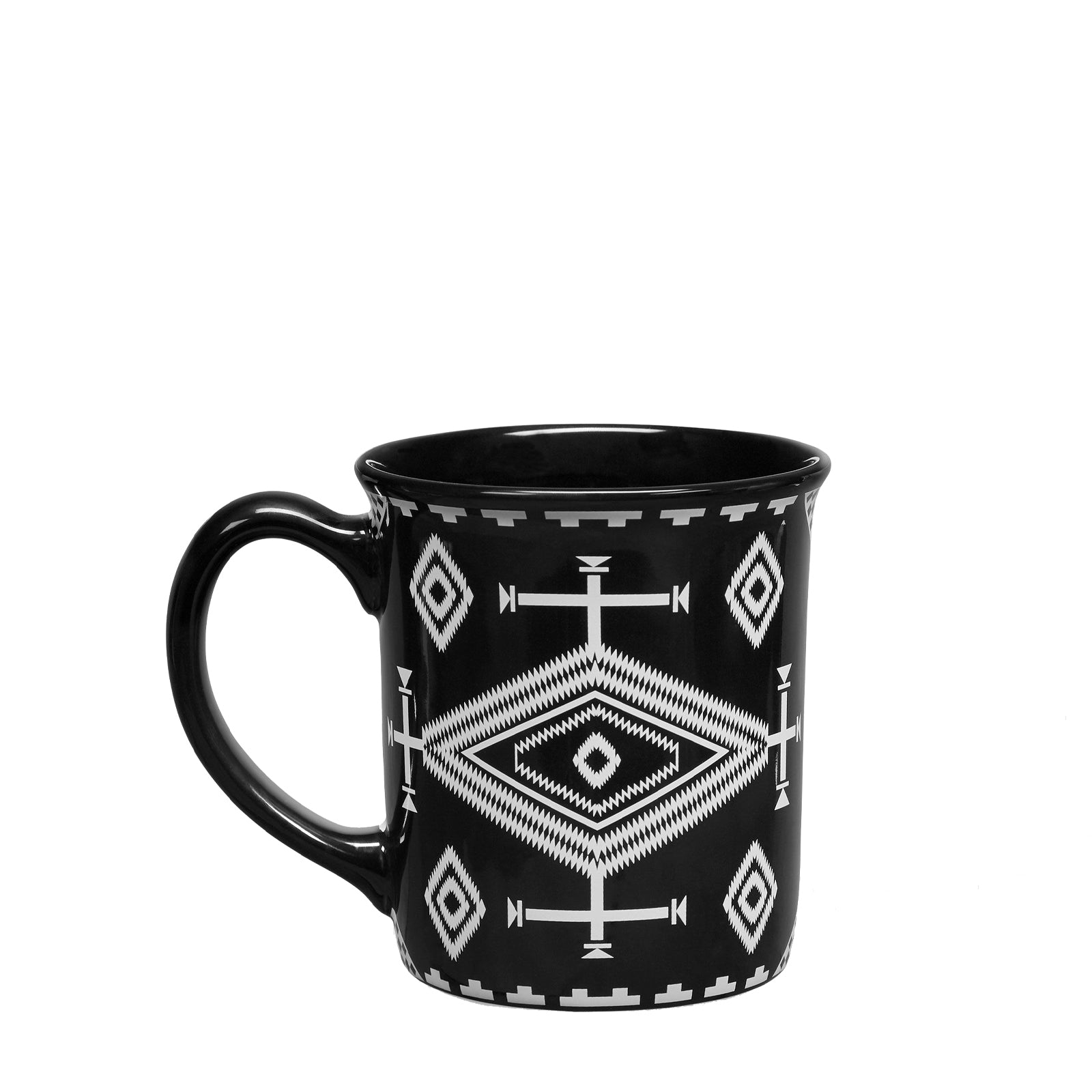 18 oz Ceramic Mug in Los Ojos Black