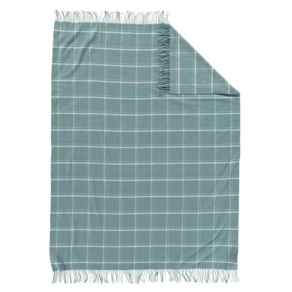 5th Avenue Throw in Shale Windowpane
