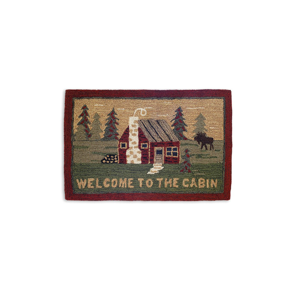 Welcome To The Cabin Rug 2X3