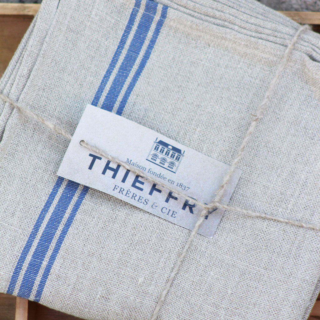 Thieffry Monogramme Blue Tablecloth