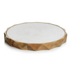 San Ramon Wood & White Marble Board 15""