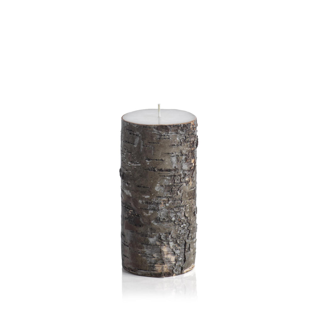 Dark Birchwood Fragrance Free Candle 3X6