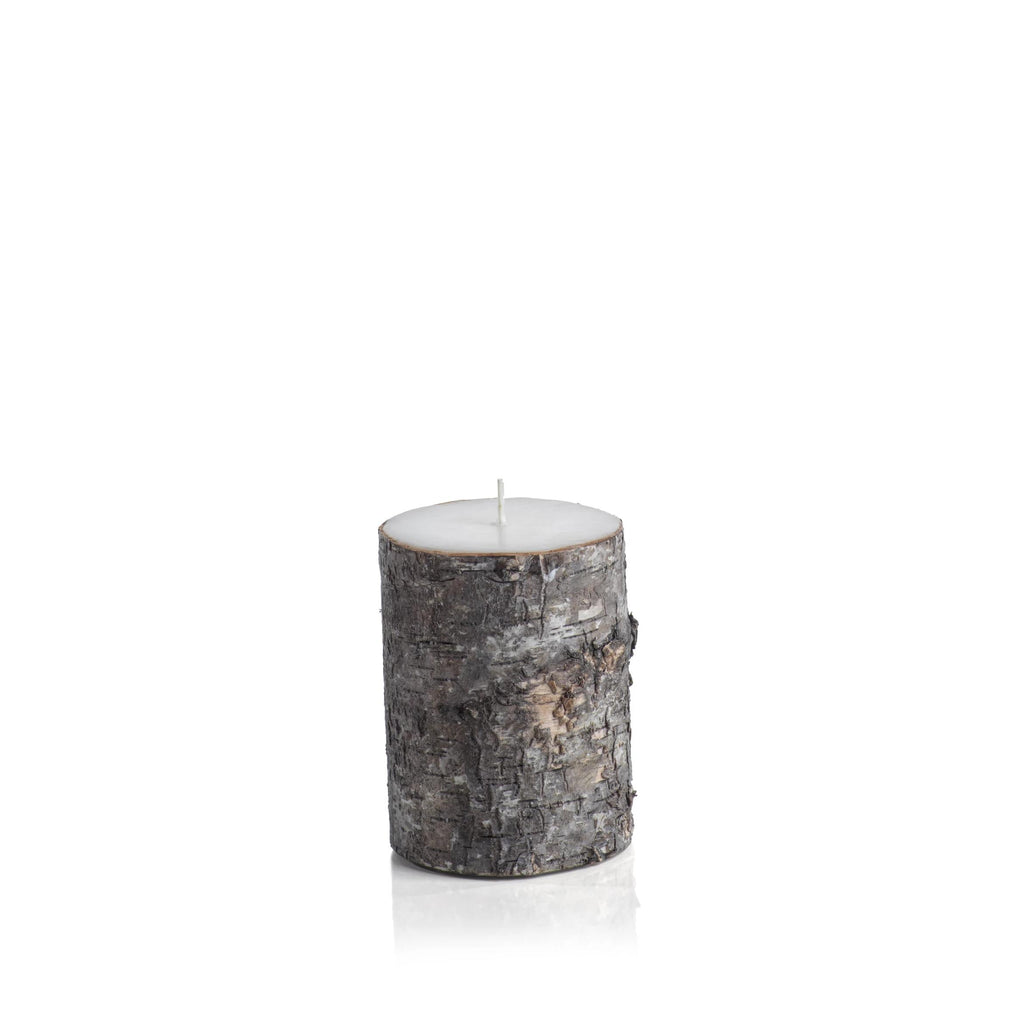 Dark Birchwood Fragrance Free Candle 3X4