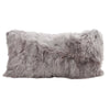Alpaca Suri Cushion 28x56cm Microsuede Cool Grey