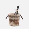 WESLEY Brown Swirled Resin Champagne Bucket