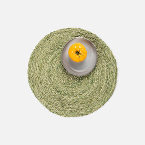 ZOEY Pale Green Round Placemat