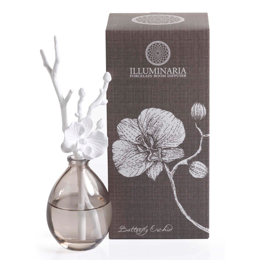 Illuminaria Porcelain Diffuser/Butterfly Orchid