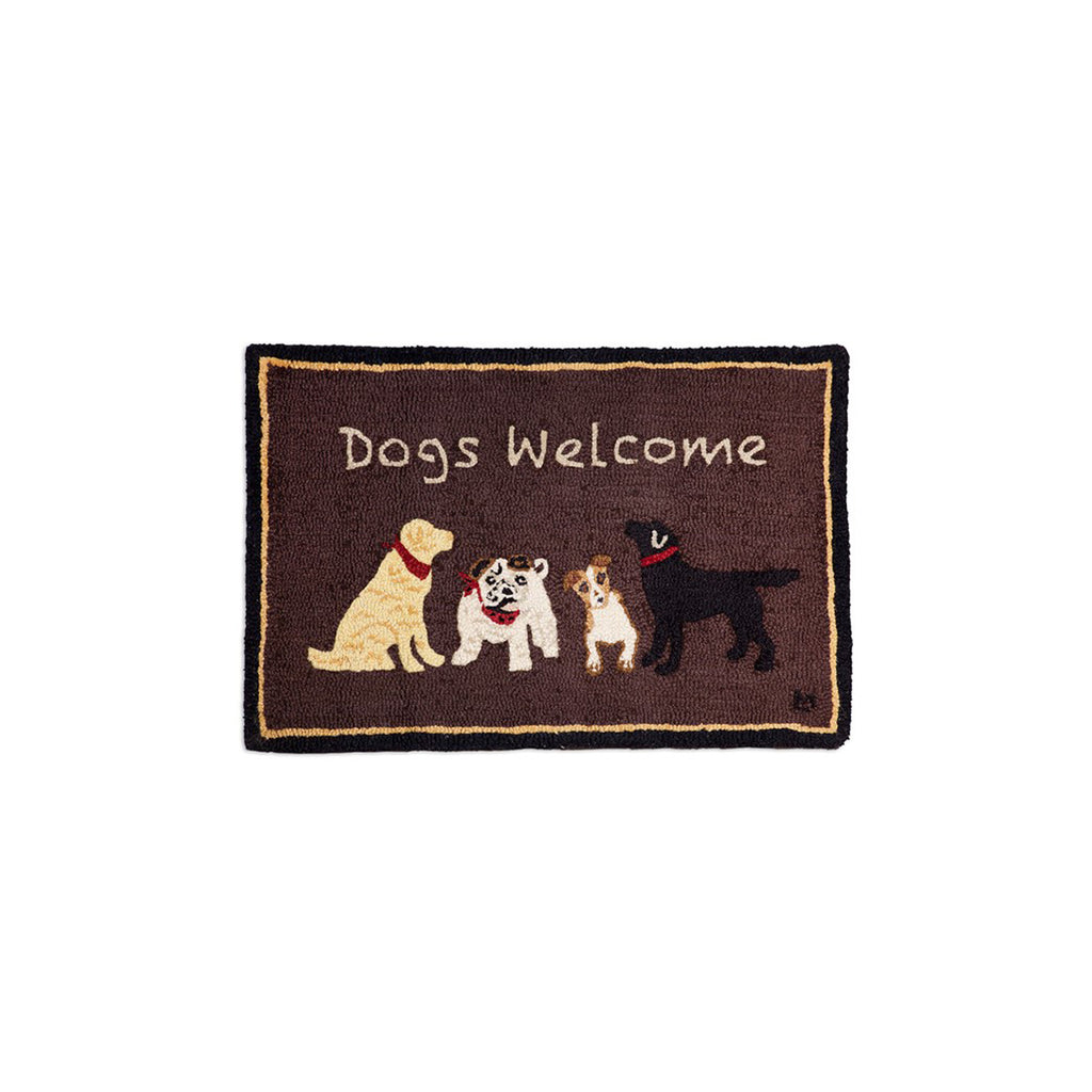 Dogs Welcome Rug 2x3