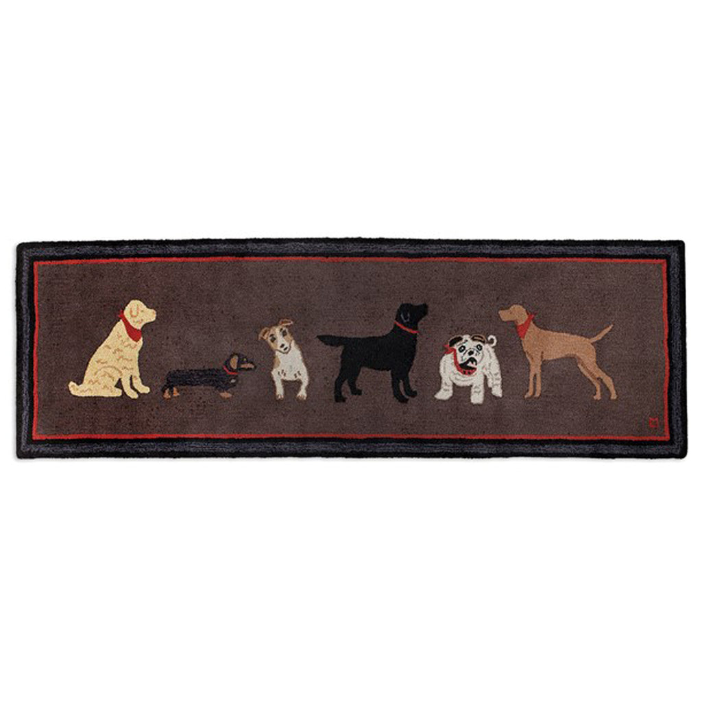 Dogs Welcome On Brown Runner 30X8