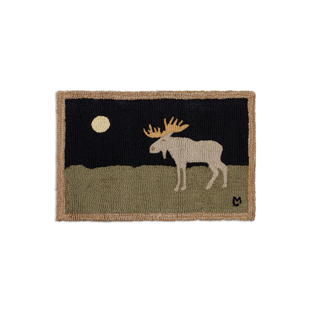 Moonlight Moose Rug 20X30