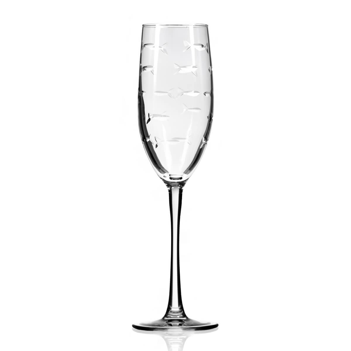 Rolf Glass - School Of Fish 8oz Champagne Flute