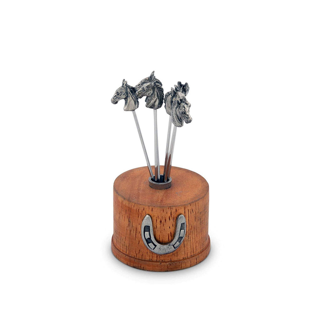 Equestrian Cheese pick Set