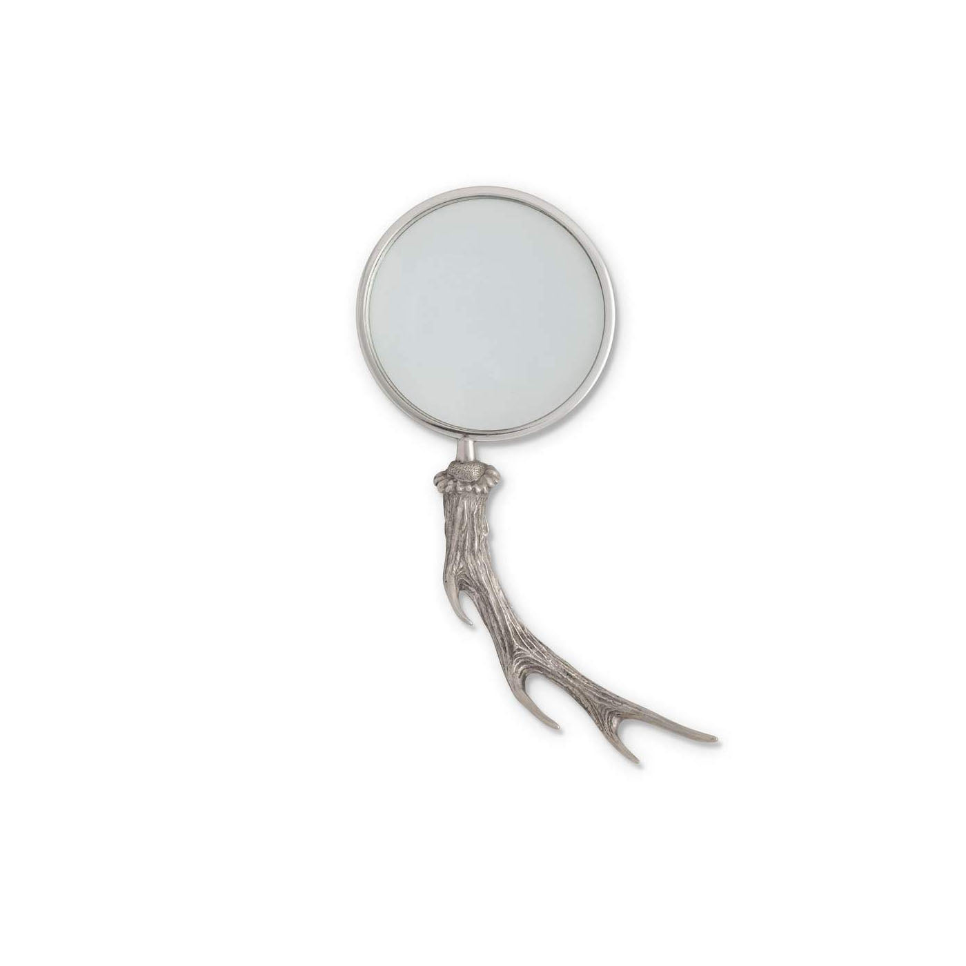 Pewter Antler Handle Magnifier 4 Inches