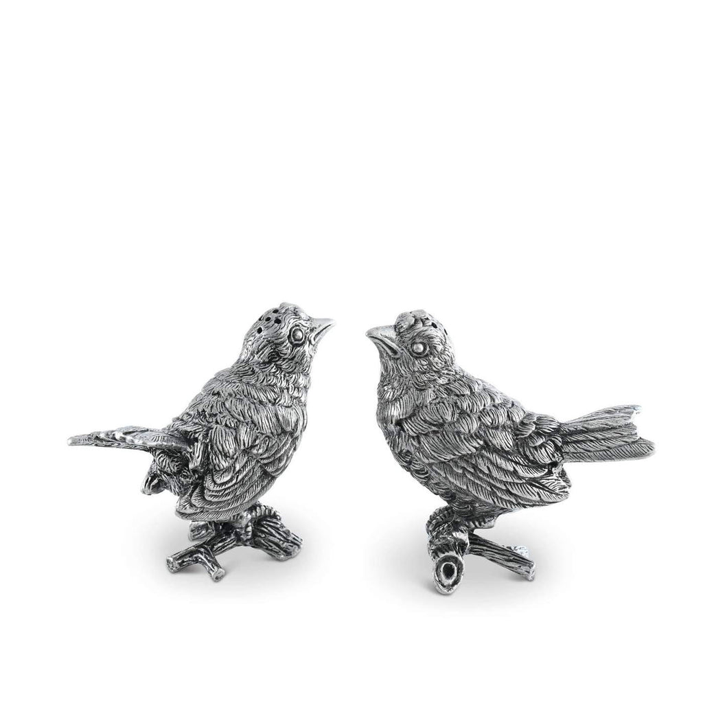 Pewter Song Birds Salt & Pepper Set