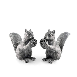 Pewter Squirrels Salt & Pepper Set