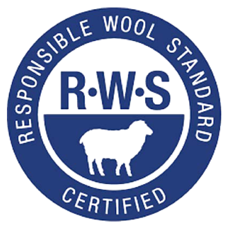 Responsible Wool Standard certified merino wool baby blankets. RWS certified baby products.